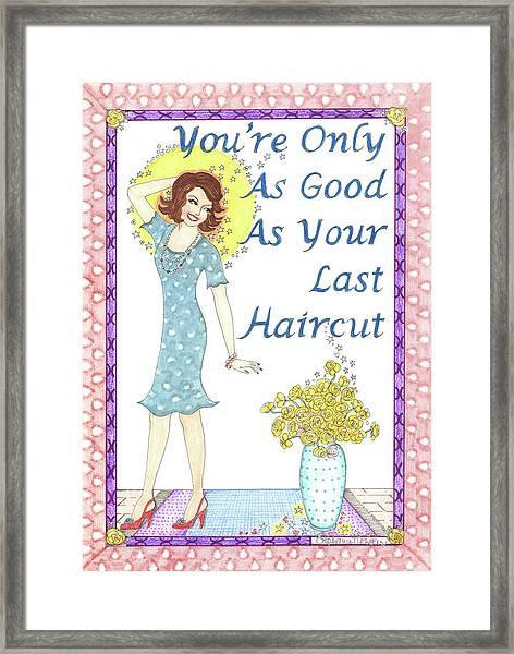 Last Haircut Framed Print