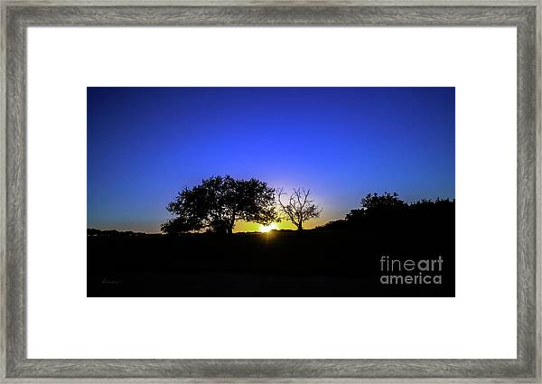 Last Light Texas Hill Country Paradise Canyon Sunset 8053a1 Framed Print