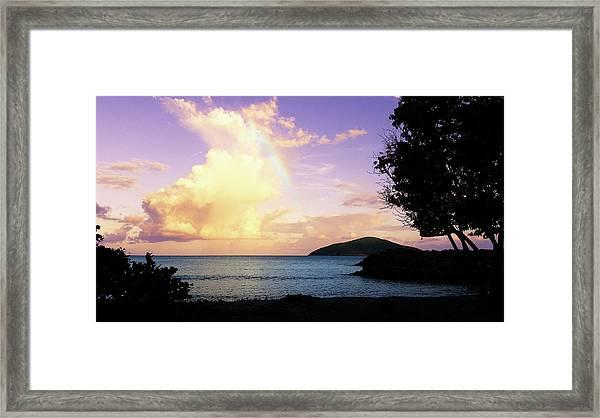 Last Rainbow Of The Day Framed Print
