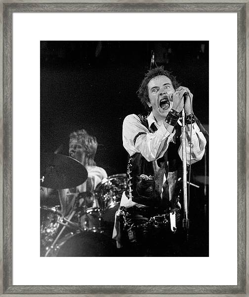 Last Sex Pistols Concert Framed Print by Michael Ochs Archives