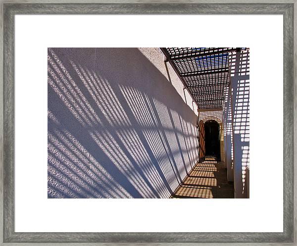 Lattice Shadows Framed Print