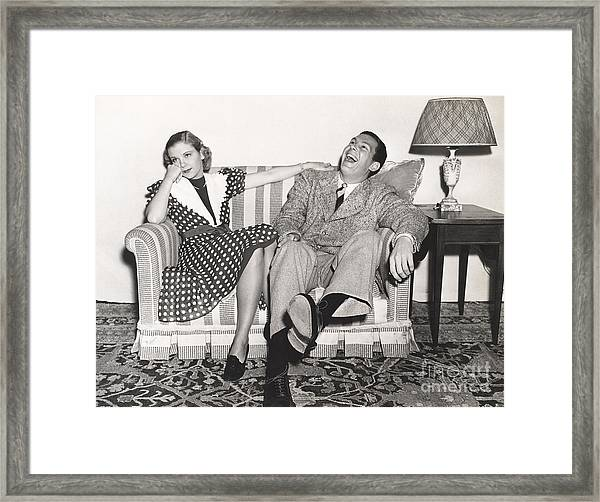 Laughing At His Own Jokes Framed Print