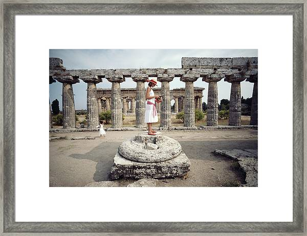 Laura Hawk In Paestum Framed Print