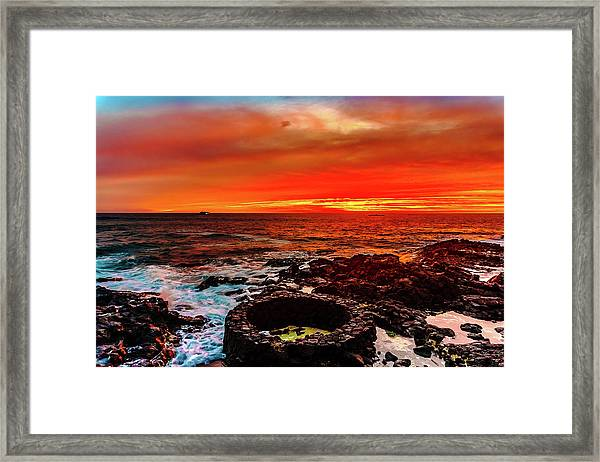 Lava Bath After Sunset Framed Print