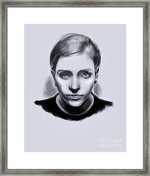 Lavender Twiggy Framed Print