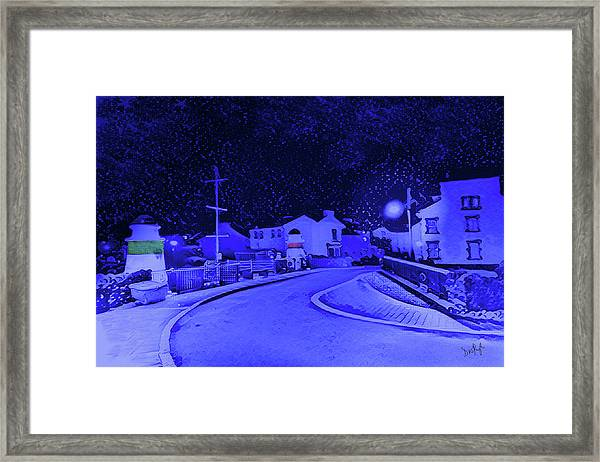 Laxey New Bridge In Snow Framed Print