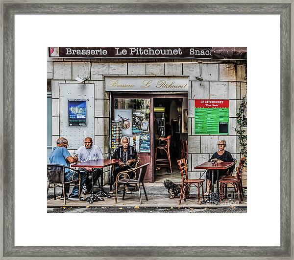 Le Pitchounet Brasserie Framed Print
