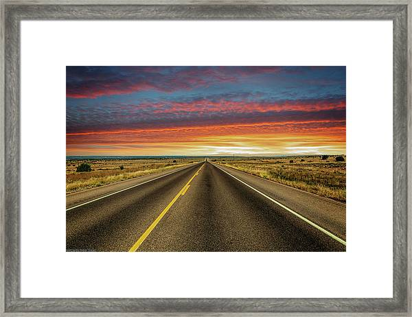 Leaving Lubbock Vanishing Point Framed Print