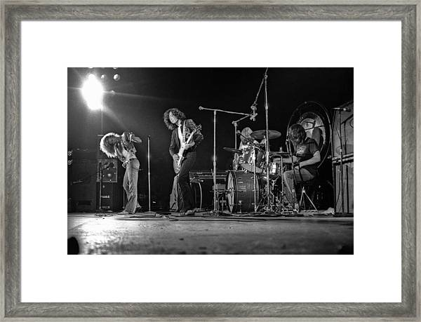 Led Zeppelin At The Forum Framed Print