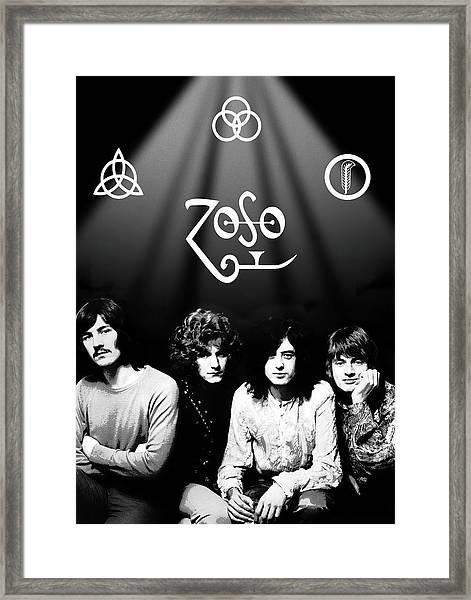 Led Zeppelin Band Tribute Framed Print