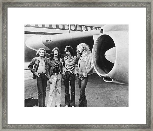 Led Zeppelin With Jet Framed Print