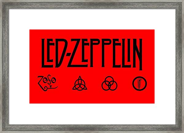 Led Zeppelin Z O S O - Transparent T-shirt Background Framed Print