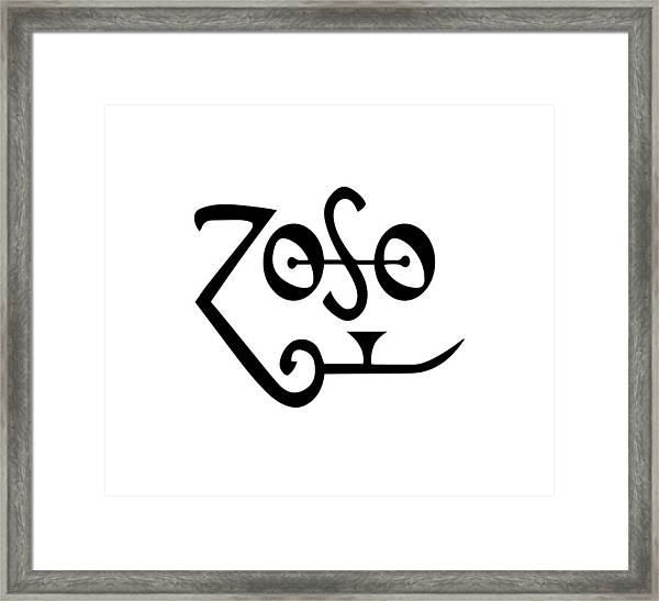 Led Zeppeling Z O S O - T-shirts Framed Print