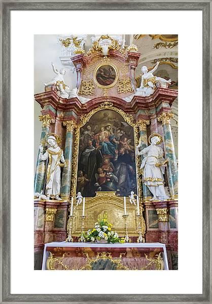 Left Side Of The Altar Framed Print