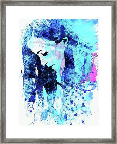 Legendary Alanis Morissette Watercolor Framed Print
