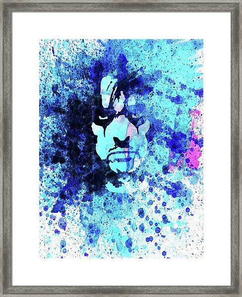 Legendary Alice Cooper Watercolor Framed Print