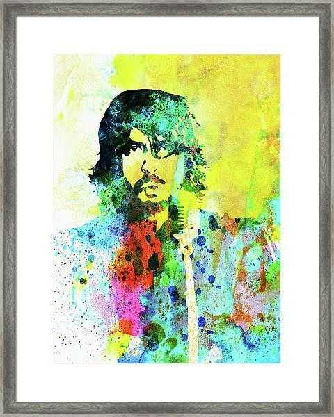 Legendary Foo Fighters Watercolor Framed Print