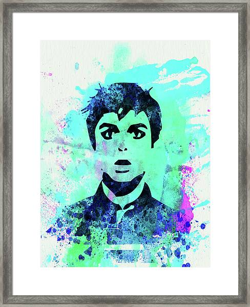 Legendary Green Day Watercolor Framed Print