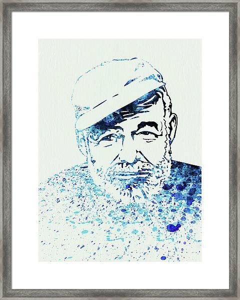 Legendary Hemingway Watercolor Framed Print