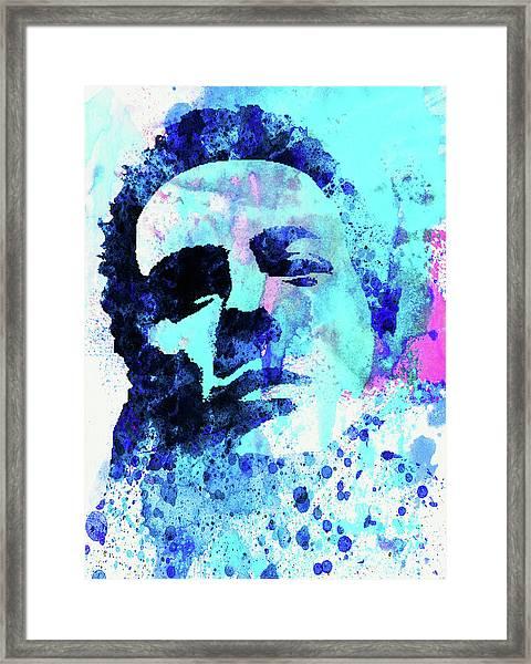 Legendary Joe Strummer Watercolor Framed Print