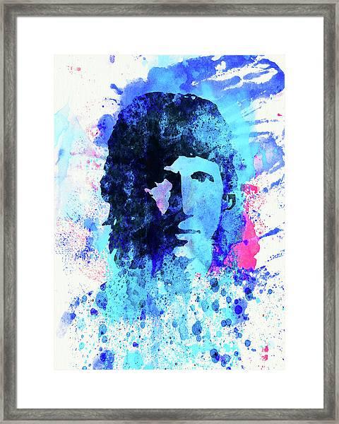 Legendary Roger Waters Watercolor Framed Print
