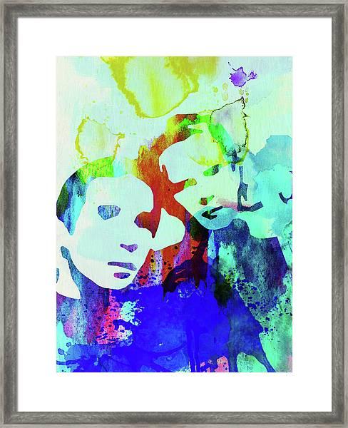 Legendary Simon And Garfunkel Watercolor Framed Print