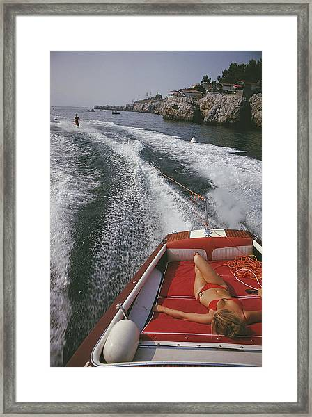 Leisure In Antibes Framed Print by Slim Aarons