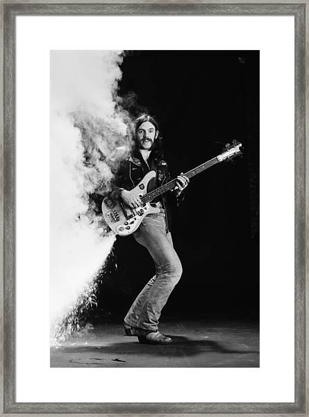 Lemmy Kilmister Framed Print by Fin Costello