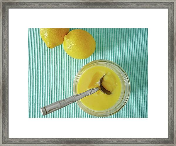 Lemon Curd Framed Print