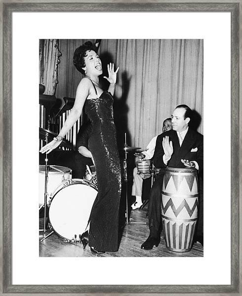 Lena Horne Sings Framed Print