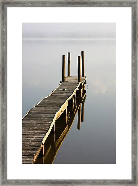 Leon Lake Jetty Framed Print