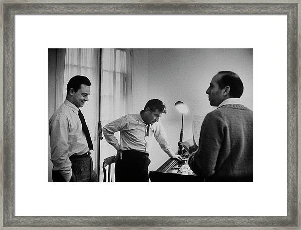Leonard Bernsteinjerome Robbinsstephen Framed Print