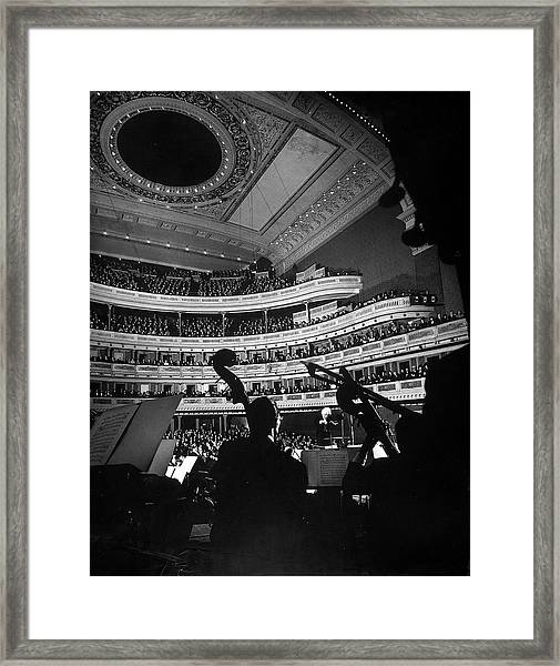 Leopold Stokowski Conducting The New Framed Print