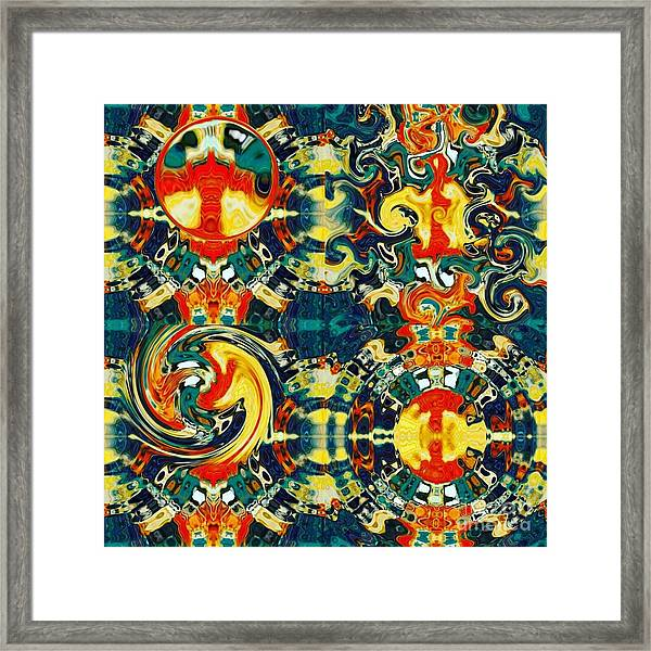 Framed Print featuring the digital art Les Quatre Elements by A zakaria Mami