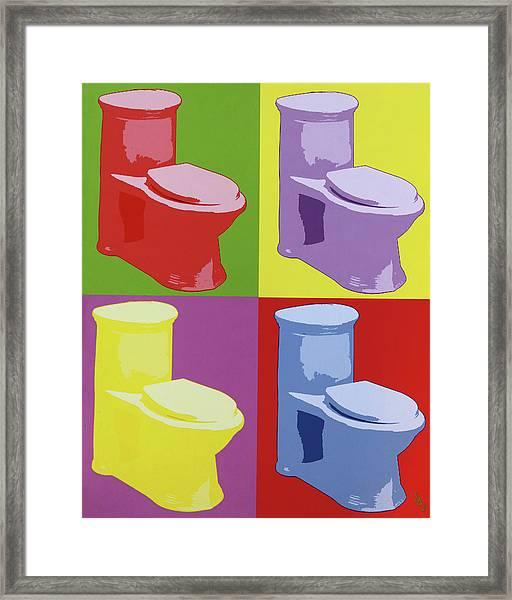 Les Toilettes  Framed Print