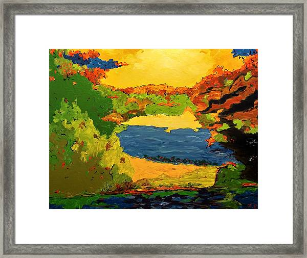 Framed Print featuring the painting Lesson From Nature by Ray Khalife