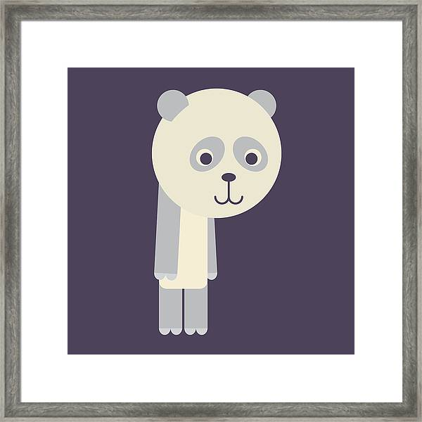 Letter P - Animal Alphabet - Panda Monogram Framed Print