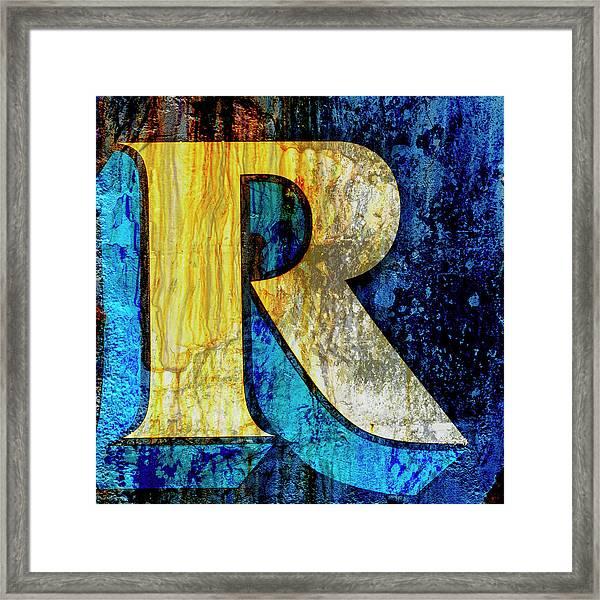 Letter R Framed Print
