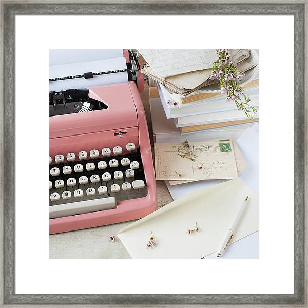 Letters By Antique Typewriter Framed Print