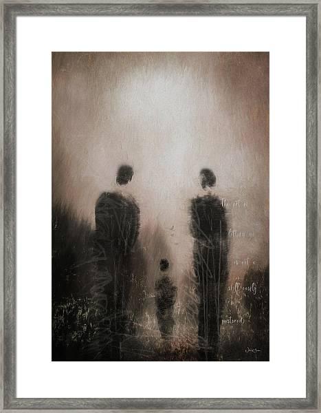 Letting Go Framed Print by Norma Slack