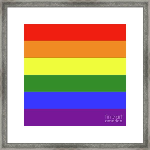 Lgbt 6 Color Rainbow Flag Framed Print