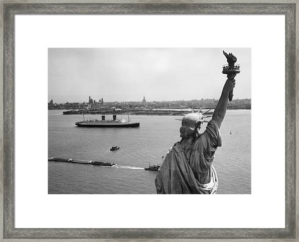 Libertys View Framed Print