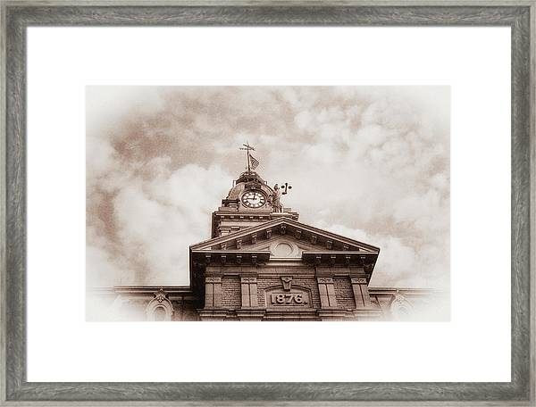 Licking County Courthouse Framed Print