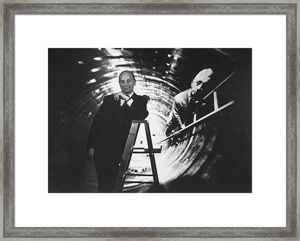 Life Photographer Yale Joel Standing On Framed Print