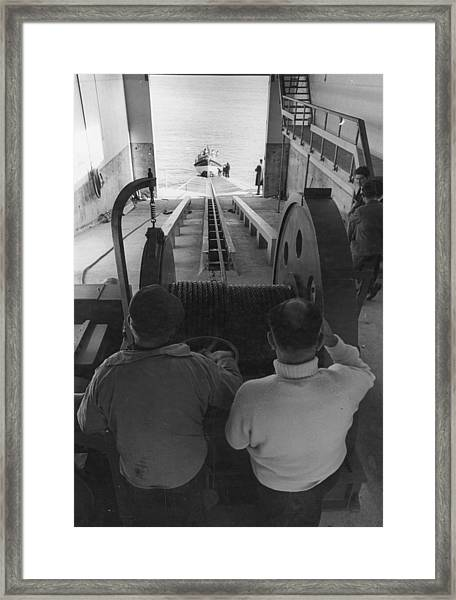 Lifeboat Launch Framed Print