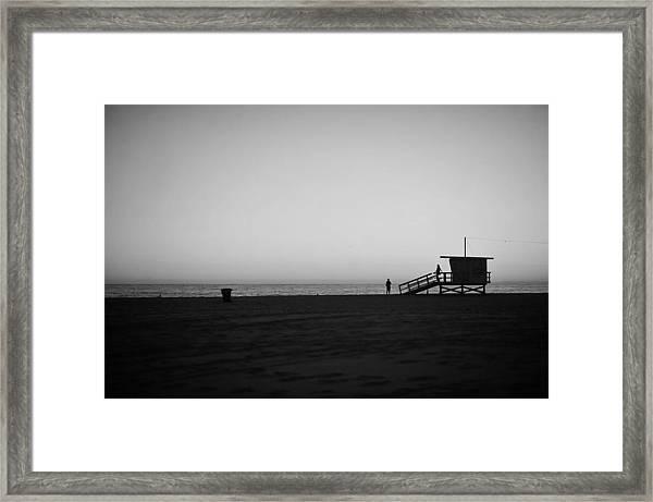 Lifeguard Tower In Santa Monica Framed Print