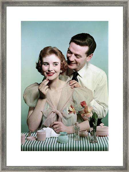 Lifestyle. Couples. Pic 1959. A Man Framed Print by Popperfoto