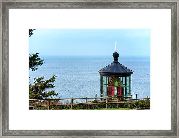 Light At Cape Meares Framed Print