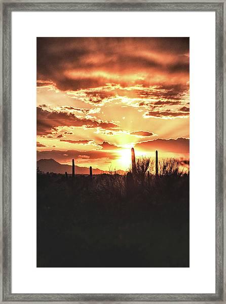 Light Of Arizona Framed Print