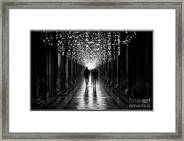 Light, Shadows And Symmetry Framed Print